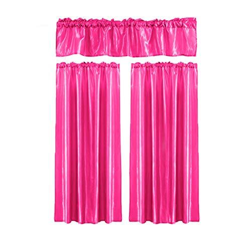 Xmiral Türvorhang Einfarbig Halbtransparent Gardine Vorhang hängen Dreiteilig Für Kinderzimmer Wohnzimmer Schlafzimmer(O,100cmx70cm/30cmx100cm)