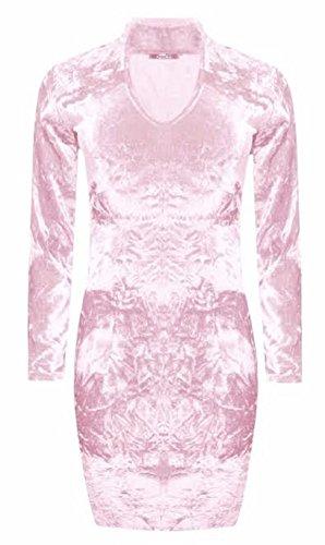 Generic -  Vestito  - fasciante - Maniche lunghe  - Donna Pink