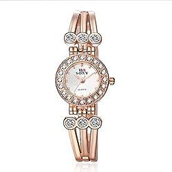 Frau, Quarz-Uhr, Mode, Persönlichkeit, Freizeit, Metall, W0356