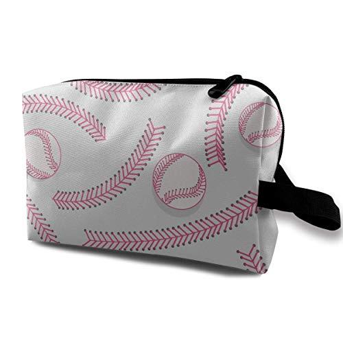 Travel Cosmetic Bags Baseball Laces Pattern Travel Portable Makeup Bag Zipper Wallet Hangbag travel Makeup Bag -