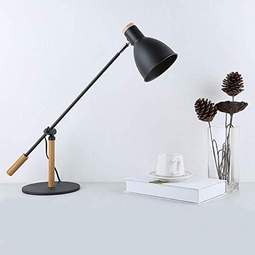 FISH Klassische Arbeitslampe auf Schreibtischlampe Schreibtisch im Innenministerium-Metalllangen Arm-Schlafzimmer-Studienbüro (Color : White),Black (Im Schreibtisch Schlafzimmer)