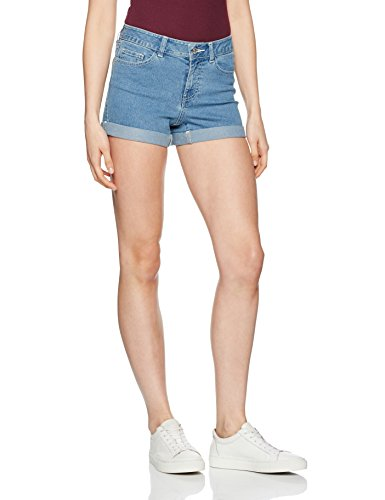 Noisy may Damen Shorts Blau (Medium Blue Denim)