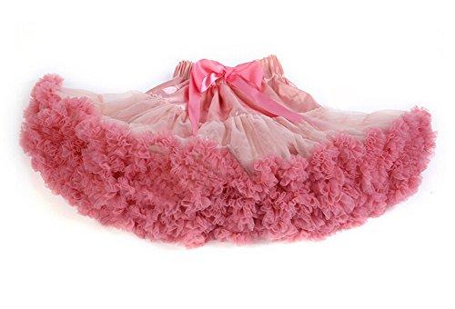 DELEY Damen Erwachsene Tutu Kostüm Princess Tanz Röckchen Puff Rock Petticoat Unterrock Rosa (Tutu Erwachsene Kostüme Rosa)