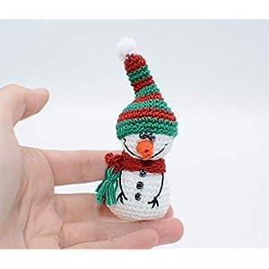 Häkeln Sie Schneemann, rote grüne Feiertag Dekoration, Baumverzierungsspielzeug