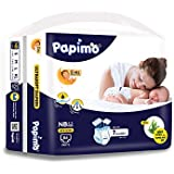 Papimo New Born Baby Diapers with Aloe Vera, 86 Count