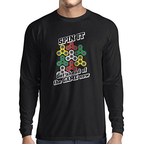 rts Für Fidget Spinner Spielzeug Enthusiasten - Stress Reducer Geschenk (Medium Schwarz Mehrfarben) (Halloween-park Minecraft)