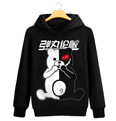 Cosstars Danganronpa Anime Kapuzenpullover Sweatshirt Cosplay Kostüm Hoodie Mantel Pulli Sweater Schwarz 9 S