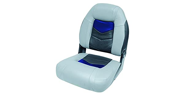 Wise 3304-1880 Pro-Angler Folding Boat Seat Marble Grey//Astro Blueberry Charcoal