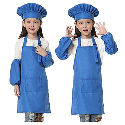 JLySHOP Enfants Toque de Chef Tablier-Cuisine Cuisson Cuisson Porter (6-12Ans)