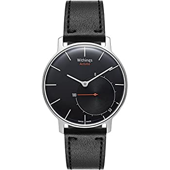 Withings Activite Sapphire Glass Activity and Sleep Tracking Watch - Black