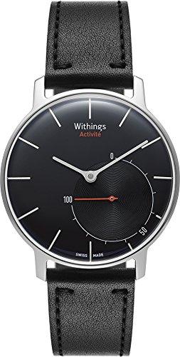 Withings Activité Sapphire - Smartwatch mit Aktivitäts- und Schlaftracker - Schweizer Fabrikat Schwarz