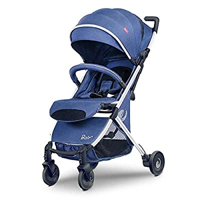 Cochecito de bebé de 0-3 años Ultra ligero Portátil puede sentarse Carretilla plegable reclinable Sombrilla Cochecito de bebé de alto paisaje