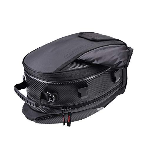 Eruditter Rucksack Motorrad Rear Seat Bag PU Leder Rucksack für Lokomotiven Wasserdicht Hard-Shell-Rucksack Sportrucksack Backpack