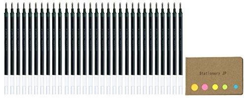 Uni-ball UMR-10 Refills for Signo Gel Ink Ballpoint Pen, UM-153, 1.0mm, Black Ink, 30-pack, Sticky Notes Value Set - 30k Compact