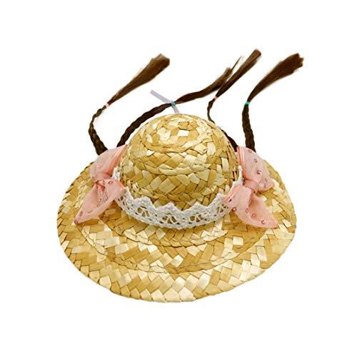 Chqin Haustier Halloween Hüte Gehäkelt Hut Hunde und Katzen Caps Niedlich Kappe Fasching Haube Lustig Sonnenhüte