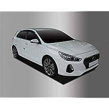 Autoclover - Juego de deflectores de Viento para Hyundai i30 2017+ (4 Piezas)