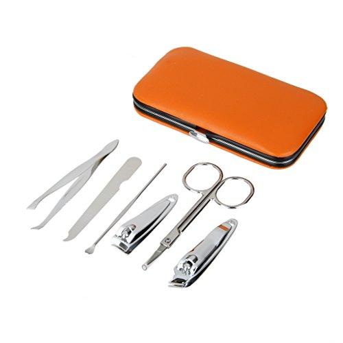 Kit 6pcs Outils pour Manucure Pédicure Portable Coupe Ongles Lime Ciseaux