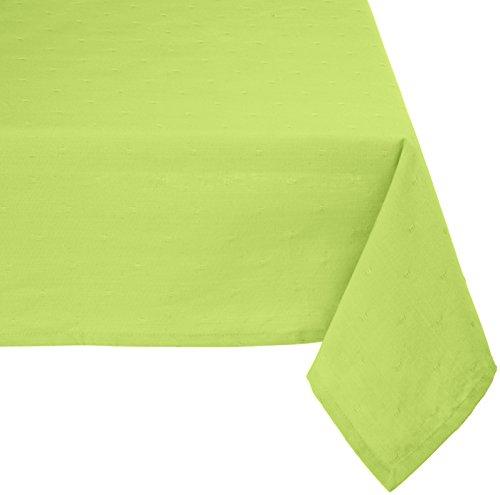Mahagoni Rechteck Dobby Tischdecke, Baumwolle, grün, 60-Inch by 90-Inch - 60 In Baumwolle