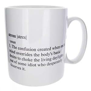 "Funny ""Real Meaning Of Stress"" Novelty Mug  -  MugsnKisses Range  -  Mother's Day, Birthday, Christmas Office Tea Coffee Gift Mug"