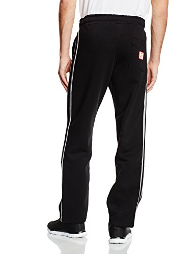 SMILODOX Herren Jogginghose | Trainingshose für Sport Fitness Gym Training & Freizeit | Sporthose - Jogger Pants - Sweatpants Hosen - Freizeithose Lang Schwarz/Grau