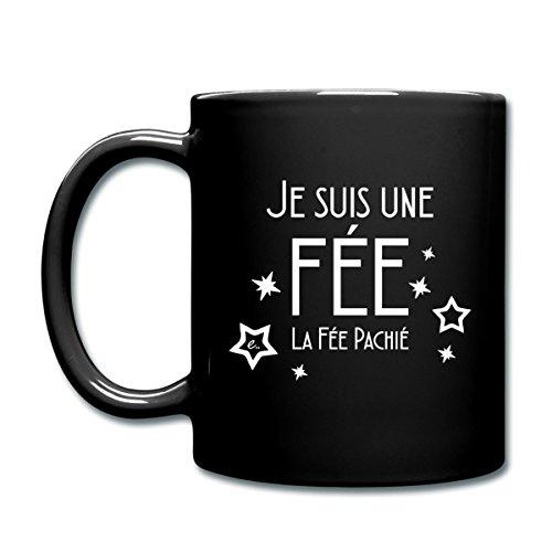 Spreadshirt Je Suis La Fée Pachié Mug, noir