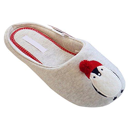 DULEE Herbst Winter Warm Schuhe Nette Pinguin Pattern Indoor Boden Hausschuhe, Größe 36-37 (36 Herren-pinguin)