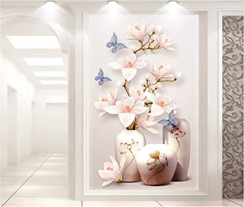 WPCHOU 3D Wallpaper vlies Flur Ballett mädchen ölgemälde Dekoration Wohnzimmer Schlafzimmer tür Dekoration