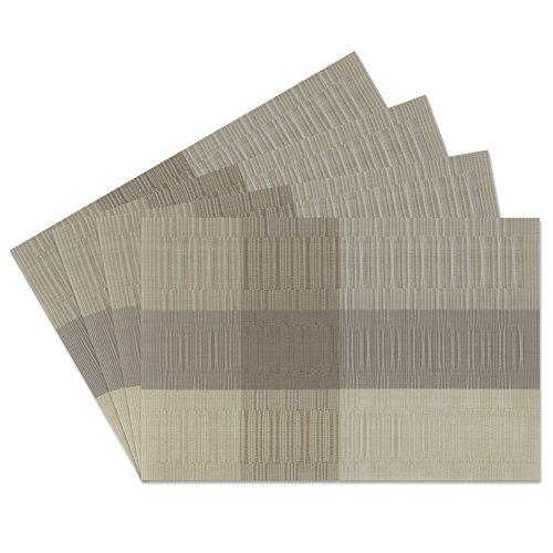 sueh-design-set-4-pezzi-tovaglietta-45-30-cm-plastica-marrone