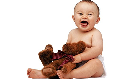Postergully - Baby Teddy Bear | Baby Posters | Baby Posters For Wall | Cute Baby Posters For Room | Baby Posters For Pregnant Woman | Wall Art Poster  available at amazon for Rs.137
