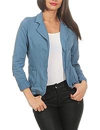 ZARMEXX Mesdames Blazer Jacket Veste Blazer Basic Manteau Sweat Vintage  (S-XL) fb8711d5ed2
