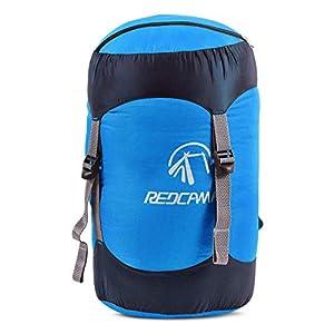 REDCAMP Nylon Packsack für Schlafsack, Wasserdichter Ultraleicht Kompressionssack Aufbewahrung Stuff Sack Organizer für…