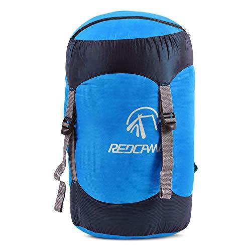 REDCAMP 15L Nylon Packsack für Schlafsack, Wasserdichter Ultraleicht Kompressionssack Aufbewahrung Stuff Sack Organizer für Camping Outdoor Trekking Wandern Rucksack Reisen, Blau
