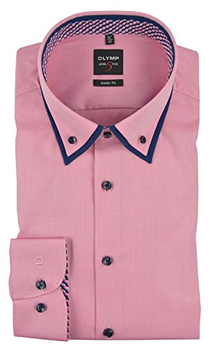 OLYMP LEVEL FIVE BODY FIT BUTTON-DOWN 2122/74/81 rosa Rosa