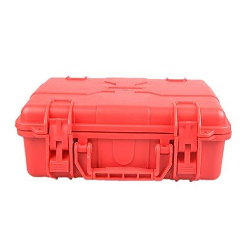 FMN-HUNTING, Pistolen-Hartschalenkoffer, Tactical Hard Pistol Aufbewahrungskoffer Gewehrkoffer Gepolsterter ABS Airsoft Pistolenkoffer Transportboxen für die Jagd auf Airsoft (Color : Red)