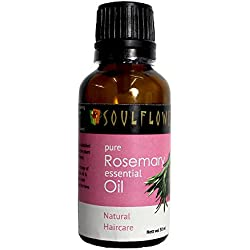 Soulflower Rosemary Pure Aroma Essential Oil, 30ml
