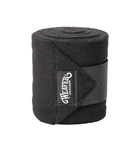 Weaver Leather Polo-Beinbandagen, 4er-Pack, schwarz, Einheitsgröße