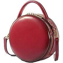2df3a855d8dae Handtasche Rund Damen Runde Damenhandtaschen Umhängetasche Schulter Circle  Tasche Aus Echtem Leder Für Mädchen Frau Schultertaschen