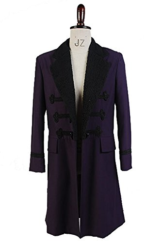 Doctor Who 11th Dr. Purple Wool Frock Coat Cosplay Kostüm Herren