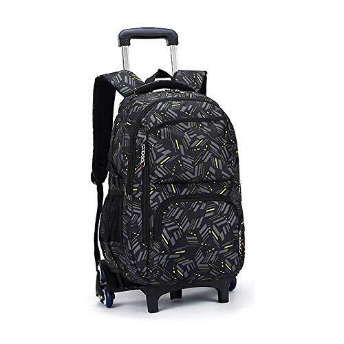 C-xka zaino multifunzione con ruote zaino con ruote zaino da viaggio scuola da viaggio borse da scuola per studenti con sei ruote zaino di decompressione (colore : c)