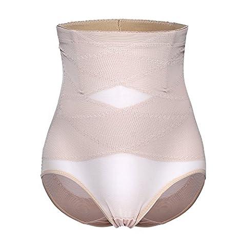 Invisable Strapless Body Shaper High Waist Tummy Control Butt lifter Panty Slim (XXL, Beige-Control