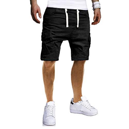 Pantalones Hombre,Verano Chándal de Hombres Color sólido Gym...