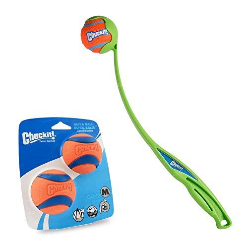 Chuckit. Sport 18Medium Ball Launcher 46cm mit 2Stück Medium Ultra Ball-Werfen Fetch Spiel Spielzeug Bundle Ultra Bundle