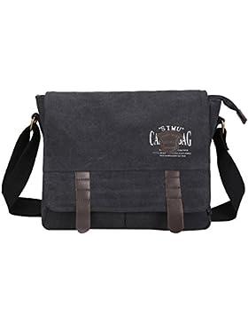 Super Modern Herren Canvas Schultertasche Messenger Bag Laptop Tasche Computer Tasche Umhängetasche aus Segeltuch...