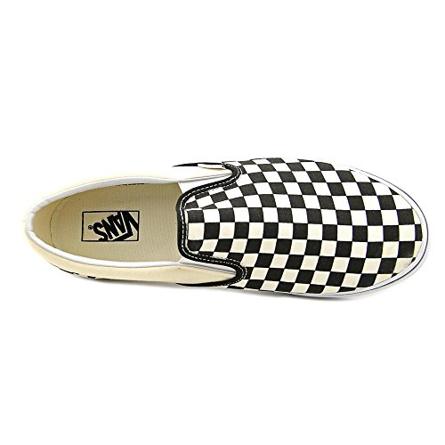 Vans U Classic Slip-on, Baskets mode mixte adulte schwarz/altweiß