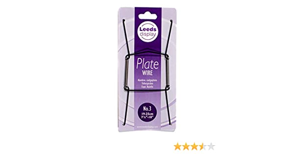White Leeds Display 25-36cm// 10-14 Inch Wire Plate Hanger No.4 PW40WL