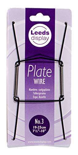 Fil Noir plaque Cintre N ° 3 : Leeds écran Pw30bkl 19-25 cm/7.5-25,4 cm