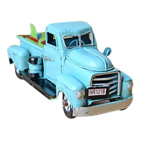 Jamicy Vintage 1/12 Metal Truck, Christbaumkugel, Kinder Spielzeug, Tischdekoration (Blau)