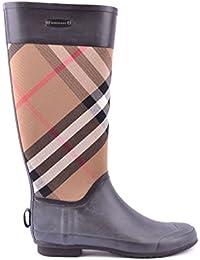 Burberry Stivali da Pioggia pt1459 Donna Nero e56ed50f3c3
