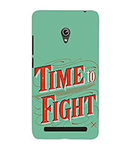 FUSON Time To Fight 3D Hard Polycarbonate Designer Back Case Cover for Asus Zenfone 5 A501CG