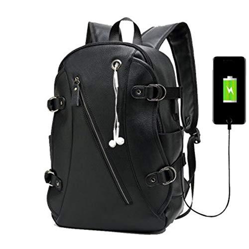 ETH Rucksack Herren Rucksack Herrenmode Trend Casual pu Leder Student Computer Tasche dauerhaft